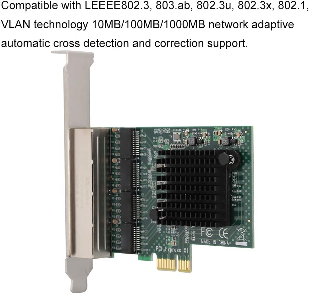 for Linux and Other 99/% of The Operating System fosa10//100//1000Mbps RJ-452 Dual-Port PCI-Ex1 Gigabit Network Card for 8102-T2 for XP for WIN7 for WIN8 for WIN8.1 for WIN10 PCI-E Network Card