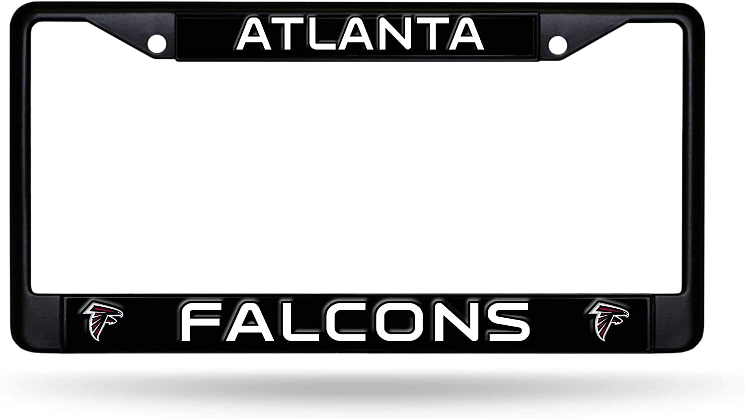 Atlanta Falcons Black Metal License Plate Frame