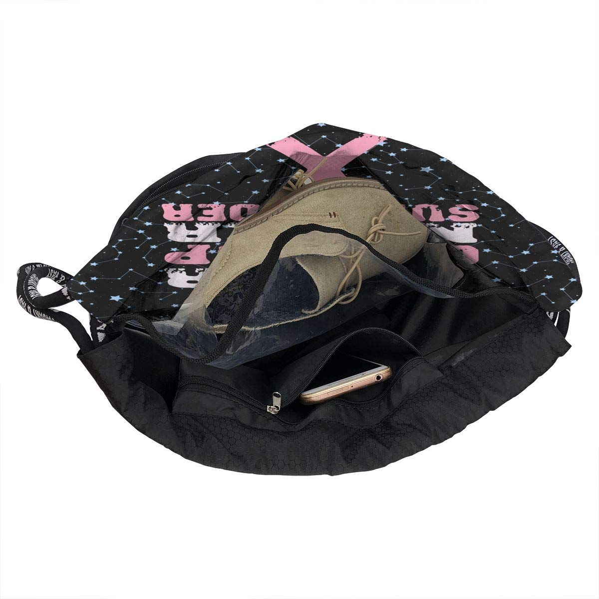 BREAST CANCER AWARENESS Drawstring Bag Multifunctional String Backpack Custom Cinch Backpack Rucksack Gym Bag