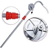 Bomba Manual de Aceite,Aleación de aluminio Manivela giratoria Barril de aceite Bomba de tambor para Bombeo Gasolina…