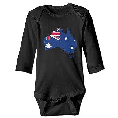 Amazoncom Cwbabyc Unisex Baby Jumpsuit Australia Flag Map Long