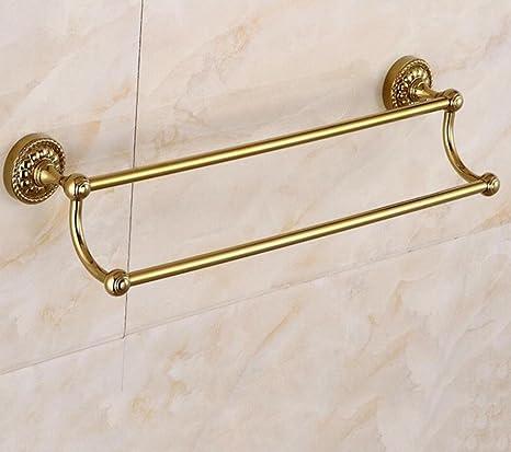 ZXY Estilo Europeo Oro Barra Doble Toalla de baño Toalla de baño Colgador de Hardware de