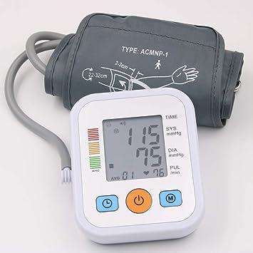 YHMMOO Tensiómetro de Brazo para Uso Doméstico con Gran Pantalla LCD y Detección del Pulso Arrítmico Función de Voz 2 * 99 Memoria,White: Amazon.es: ...