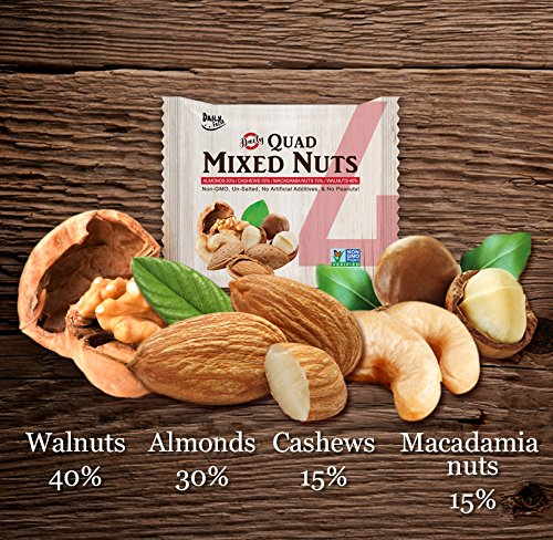 Daily Fresh Quad Mixed Nuts, 24 Count by Daily Fresh (Image #1)