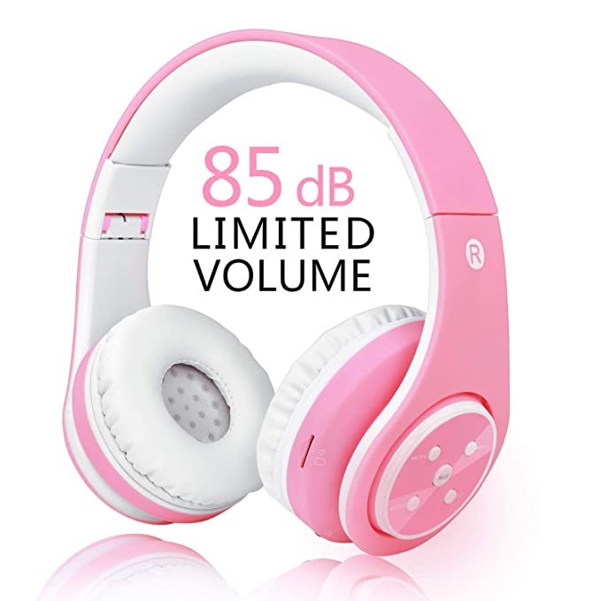 7185b3bbc57 Girls Wireless Bluetooth Headphones,VOTONES 85dB Volume Limited Kids Headset  Foldable Over Ear,Great