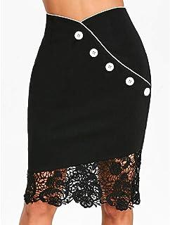 CANDLLY Faldas de Fiesta Mujeres Elegante Trabaja Faldas Lisas Faldas Cortas Faldas Modernas Vestido Guapo para Chicas Regalos para Novia San Valentin