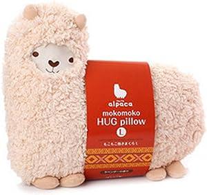 JCNCE Aunt Merry Mokomoko Llama Alpaca Hug Pillow Cushion White Doll