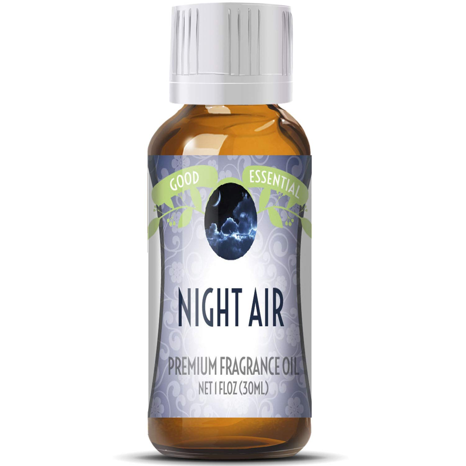 Night Air Scented Oil by Good Essential (Huge 1oz Bottle - Premium Grade Fragrance Oil) - Perfect for Aromatherapy, Soaps, Candles, Slime, Lotions, and More!