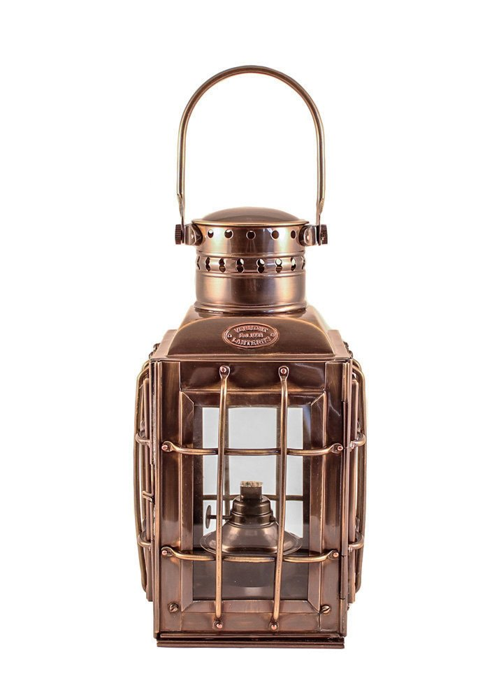 Vermont Lanterns Brass Chiefs Oil Lamp - Nautical Lantern (10'', Antique Brass)