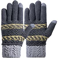 Darller Women Winter Touch Screen Gloves Knit Texting Gloves Touchscreen Mittens