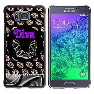 For Samsung GALAXY ALPHA G850 Case , Girl Eve God Eden Drawing White - Diseño Patrón Teléfono Caso Cubierta Case Bumper Duro Protección Case Cover Funda