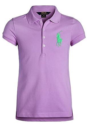 Polo Ralph Lauren - Camiseta de Manga Corta - para niña Morado ...