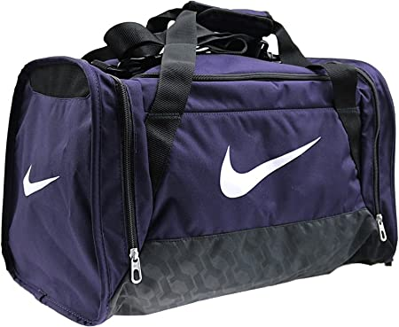 bordado Temporada Geología  Nike Brasilia 6 Duffel Small - Sport Bag, Purple: Amazon.co.uk: Sports &  Outdoors