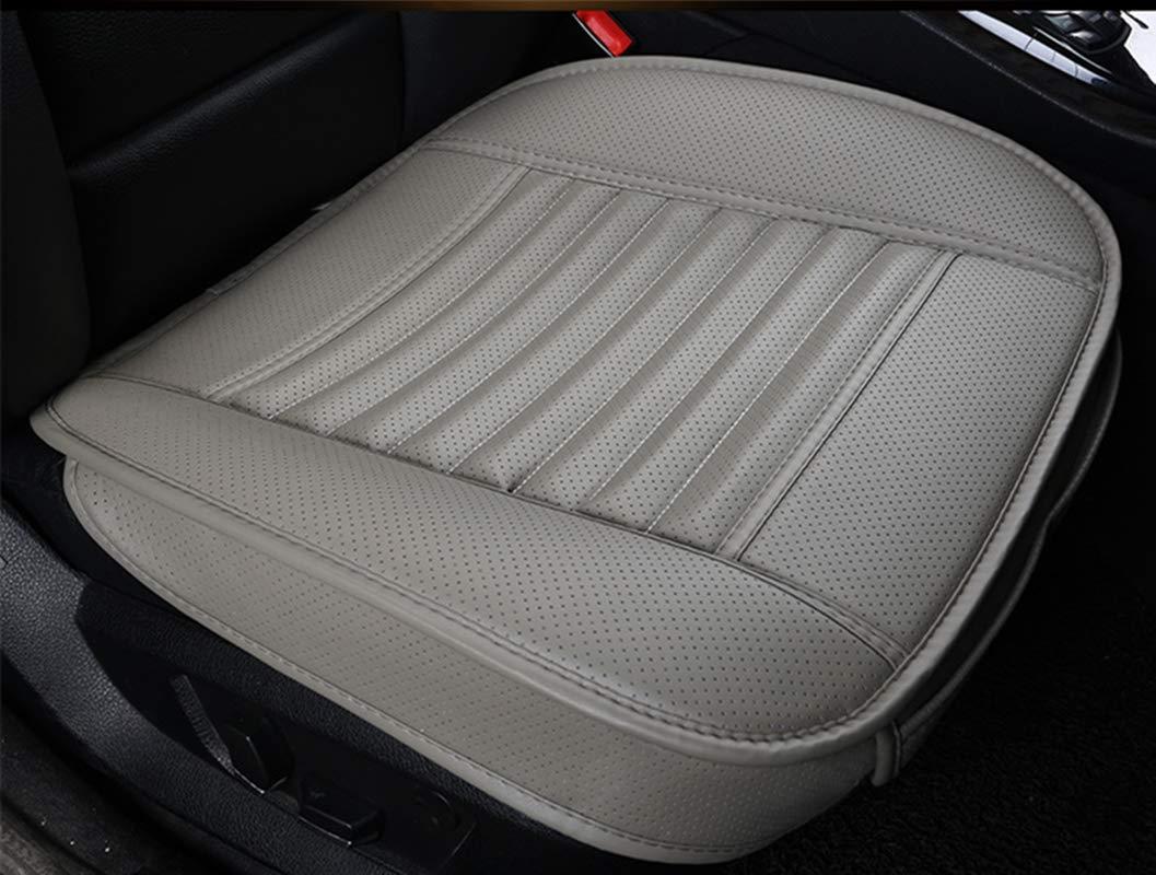 EXQUILEG Allgemeiner Zweck bequem Atmungsaktiv Sitzauflage Auto Autositzkissen-PU-Leder-Bambusholzkohle Schwarz, 50x133cm