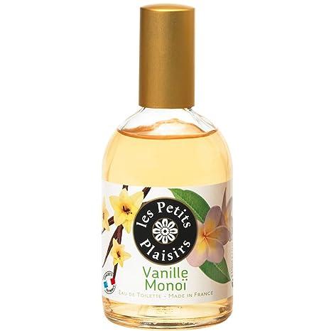 Les Petits Plaisirs - 3 frascos de colonia con vaporizador, aroma de vainilla y flores