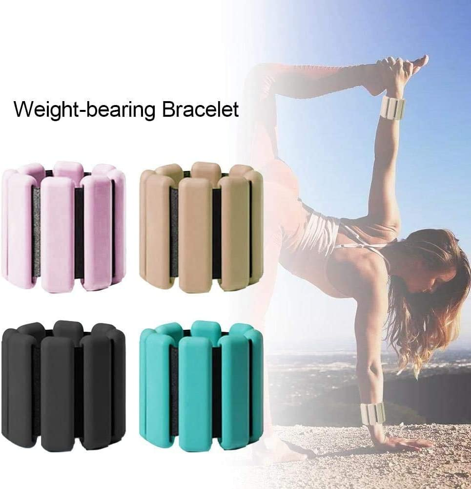 2PCS Wrist Weight Leg Weights Hand Weights Adjustable Wrist Strap Pair Legs Weight for Fitness Jogging Walking Exercise Gymnastics Aerobics Gym Training Ankle Weight