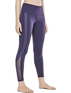 bb43c42fc95ef CRZ YOGA Women's Naked Feeling High Waist 7/8 Tight Side Stripe Yoga  Workout Leggings
