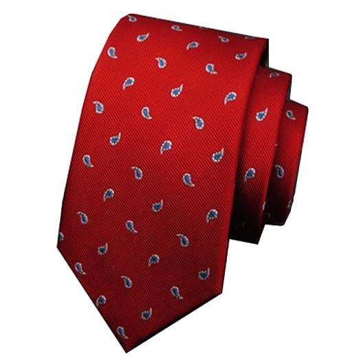 Fgregt - Corbata de Seda para Hombre, Color Rojo: Amazon.es: Jardín