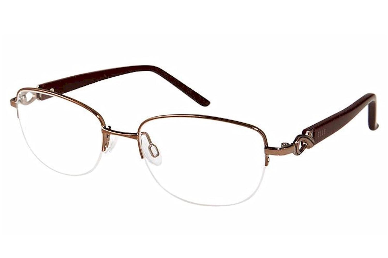 Elle Womens Eyeglasses EL13447 EL//13447 Half Rim Optical Frame