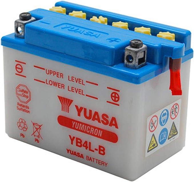 YUASA BATERIA YB4L-B abierto - sin ácido: Amazon.es: Coche y moto