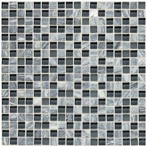 Glacier Tile Flooring - Dal-Tile 5858MS1P-SA59 Stone Radiance Tile, Glacier Gray Marble Blend