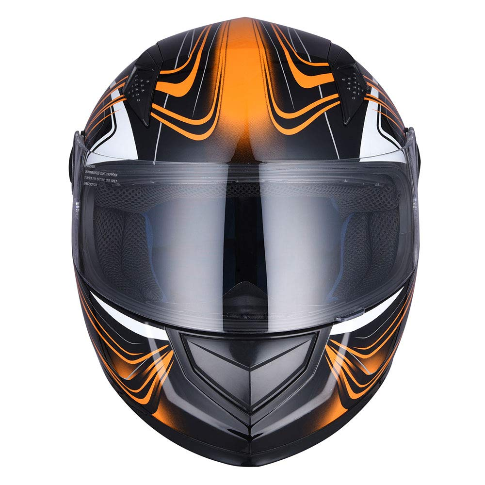 ReaseJoy ECE Motorcycle Full Face Helmet Air Ventilation Lightweight ABS Shell Street Bike Motorbike Touring Sports M