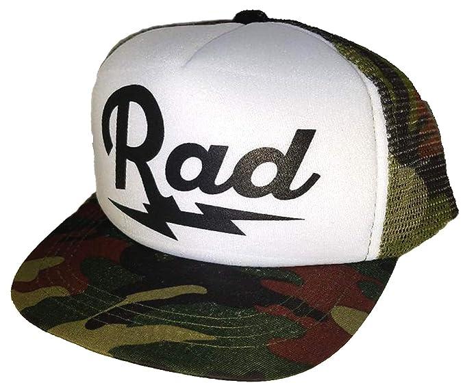 fa3fcffa0 Toddler Kid's Rad Lightning Bolt Mesh Trucker Hat Cap Camouflage Camo