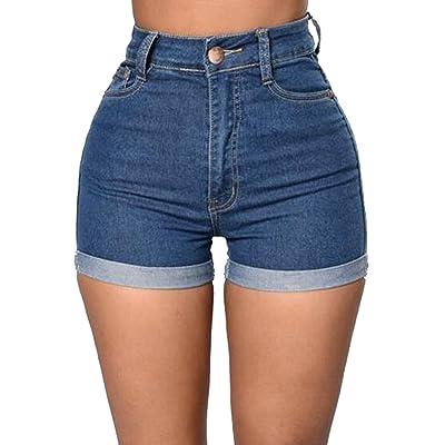 uninukoo-women clothes Unko Women's Stylish High Waist Stretchy Skinny Denim Shorts Hot Pants Jeans