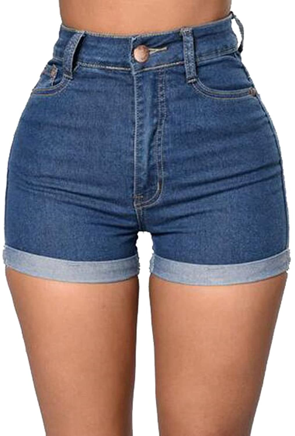 uninukoo-women clothes Unko Women's Stylish High Waist Stretchy Skinny Denim Shorts Hot Pants Jeans