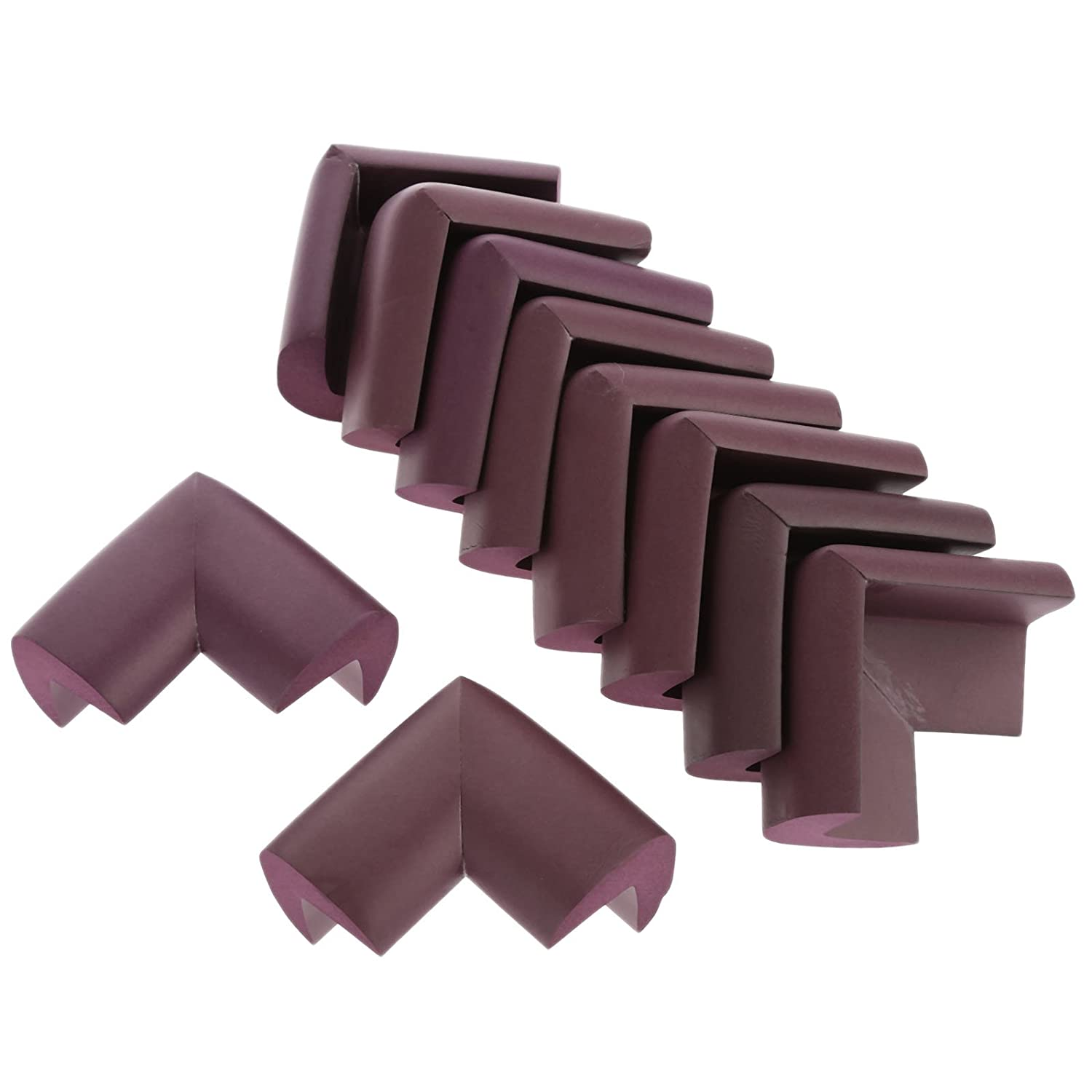 10pcs Angle Form Extra Thick Furniture Table Edge Protectors Foam Baby Safety Bumper Guard-Wood Color dophee