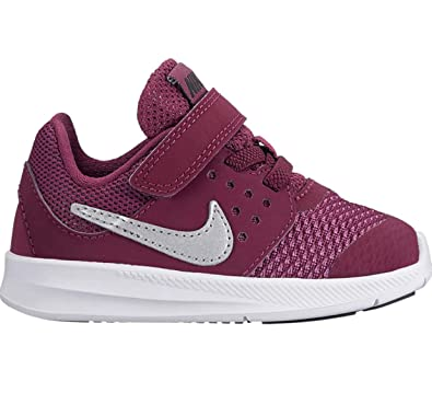 9a17ec7aef Amazon.com | Nike Girl's Downshifter 7 (TDV) Running Shoes (5 Toddler M,  Bordeaux/Metallic Silver) | Athletic