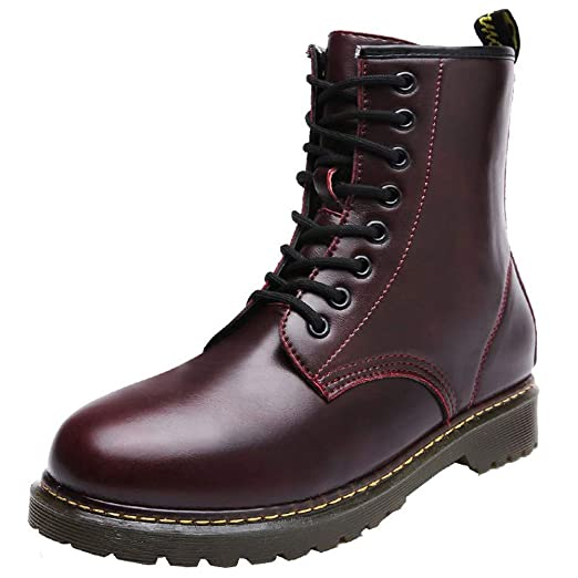 eef29fed750d SuperSU Herren Stiefeletten Herbst Schnürung Stiefel Mode Runde Zehe Schuhe  Leder Business Casual Schnürschuhe Kurze Stiefel
