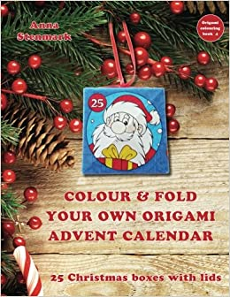 Colour & fold your own origami advent calendar - 25 Christmas ...