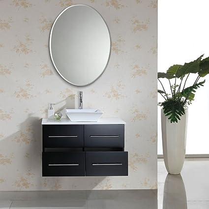 Buy Venetian Design Frameless Oval Bathroom Mirror Online At Low