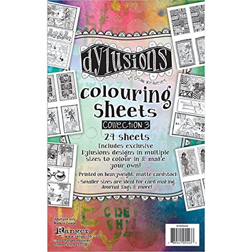 Ranger Dylusions 5 X 8 Inches Coloring Sheets (3 -