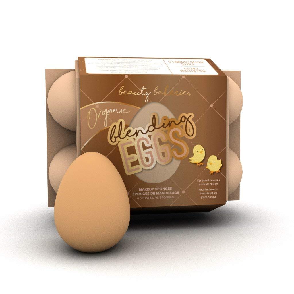 Beauty Bakerie - Organic Blending Eggs Beauty Sponges. Seamless Blending and Reduce Streaks. (6 Sponges)