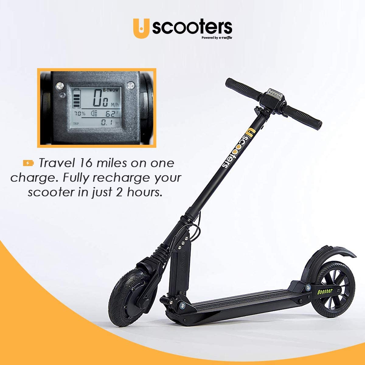 USCOOTERS ECO Model Electric Scooter 24V 6.5 Amp Black