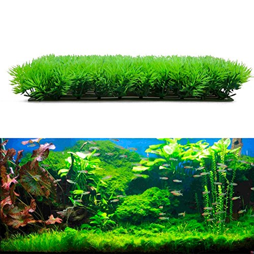 2525cm artificial water aquatic green grass plant lawn for Artificial fish pond plants