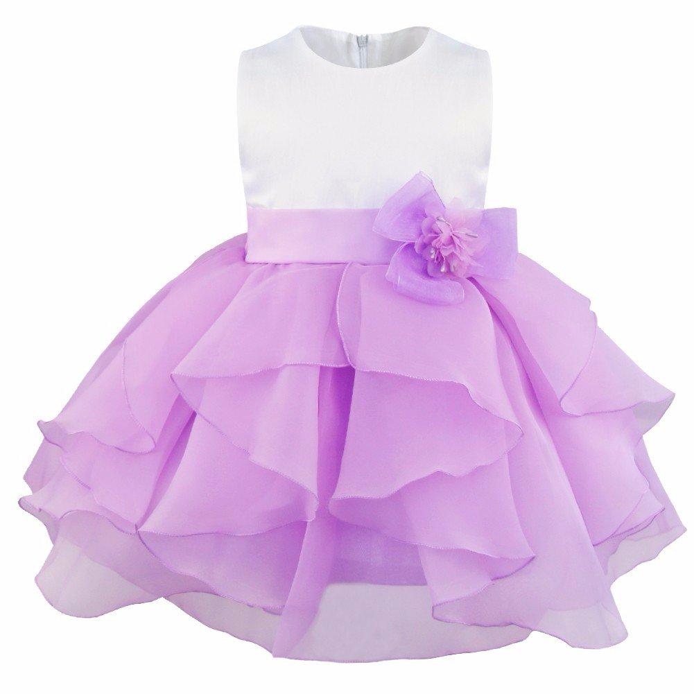 e69caff710 iEFiEL Vestido de Bautizo Princesa para Bebé Niña Recién Nacido (3-24 Meses)