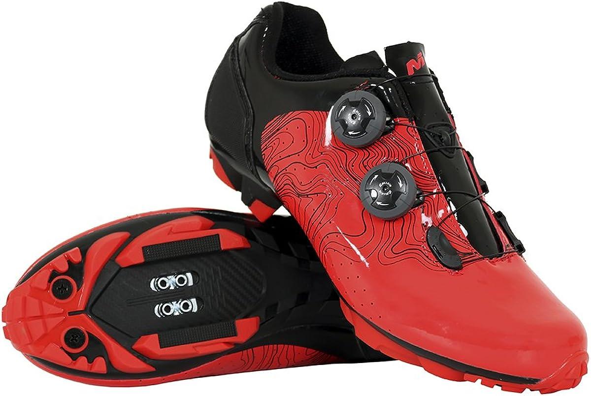 Massi MTB ERGON Red T.41, Zapatillas de Ciclismo de montaña Unisex ...