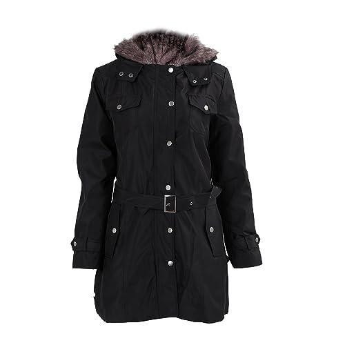 SODIAL (R)caliente mujeres espesan la capa caliente del invierno Abrigo con capucha anorak Chaqueta ...