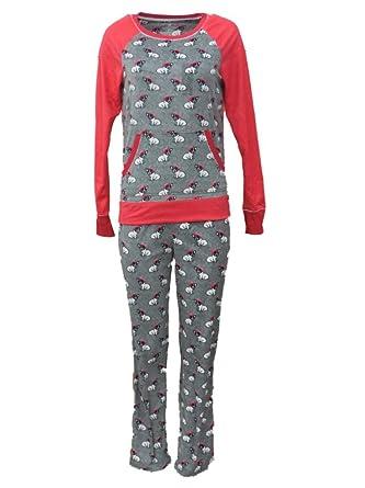 aca315e38a Celestial Dreams Junior Womens Gray Puppy Dog Print Pajamas Fleece Pajama  Set L