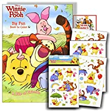 Winnie the Pooh Coloring Book with Stickers ~ 96-page Coloring Book with Winnie the Pooh Stickers Pack & Bookplate Sticker