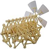 ieasysexy Wind Powered DIY Walking Walker Mini Strandbeest Assembly Model Kids Robot Toy