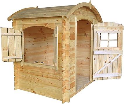 Kokido - Casita de madera para niños 105 x 130 x 145 cm: Amazon.es: Juguetes y juegos