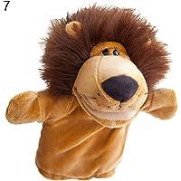 FnieYxiu Toys, Cartoon Sheep Lion Tiger Animal Plush Toy Kids Hand Puppet Soft Stuffed Doll