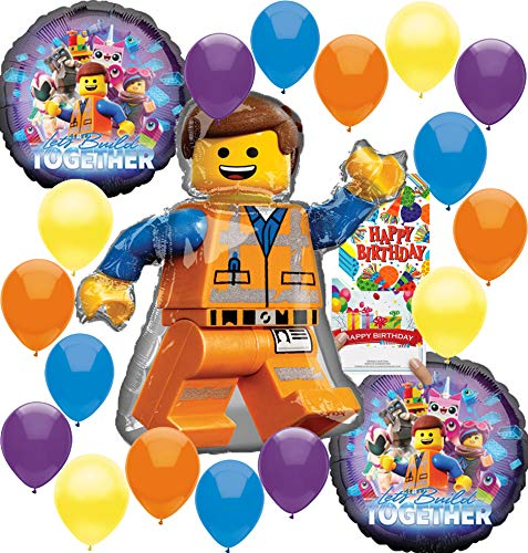 Lego Movie 2 Deluxe Balloon Decoration Bundle for (Any Birthday)