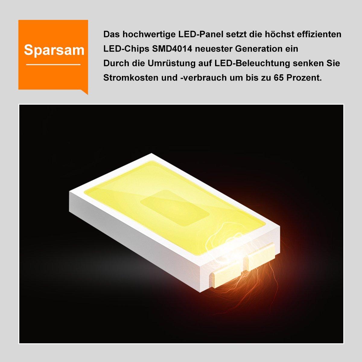 OUBO LED Panel 30x30cm Warmweiß 3000K quadratisch 18W LED ...