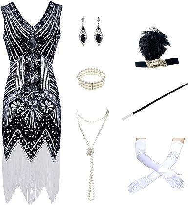 Charm.L Grace Costume Disfraz de Gatsby de los años 20 para Mujer ...