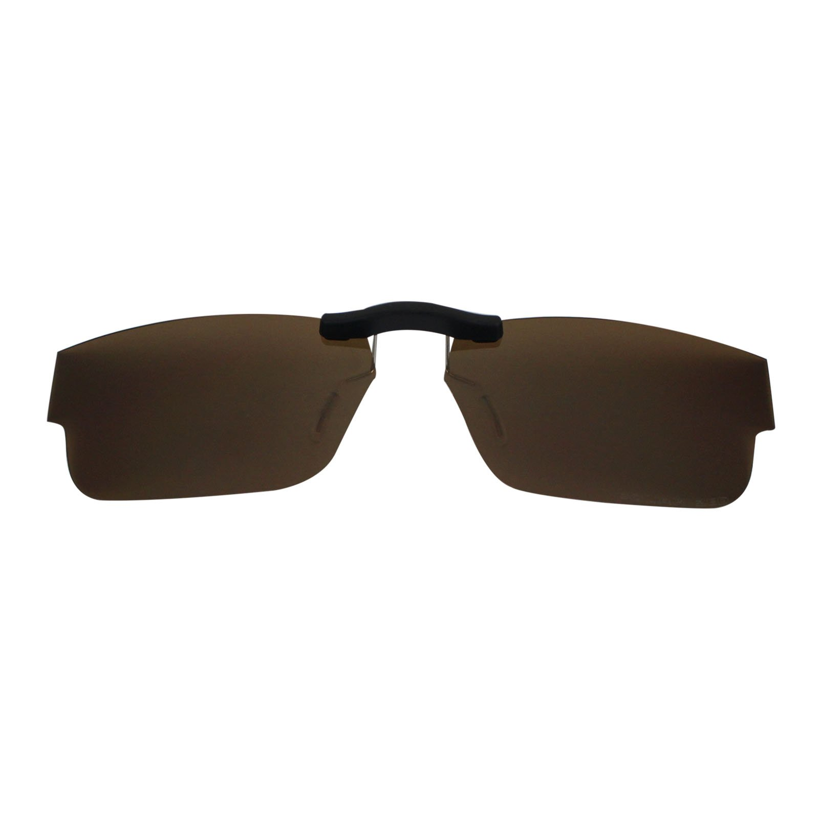 Custom Polarized Clip on Sunglasses For Oakley Airdrop 51 OX8046 51-18-143 (Brown) by oGeee (Image #2)